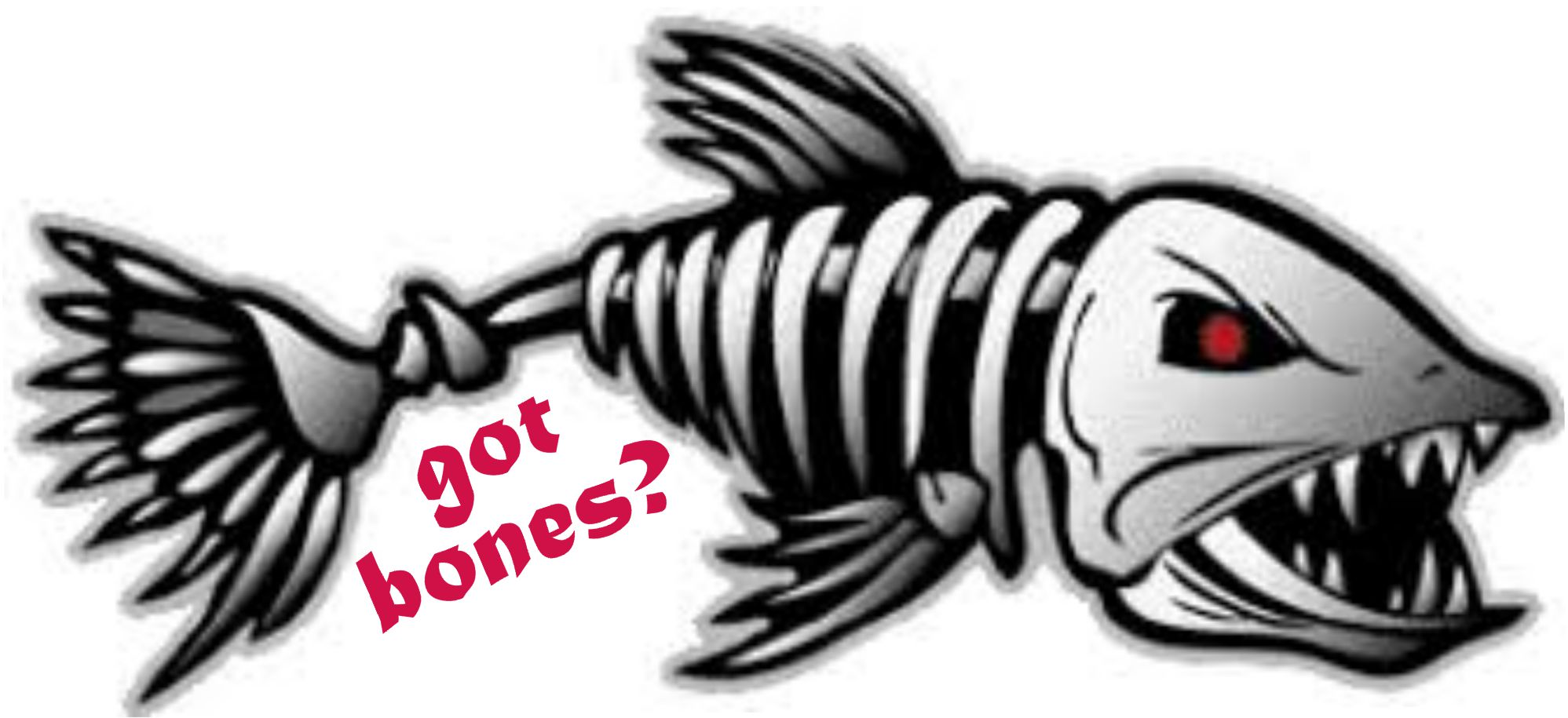 Got Bones Fish Skull Decal
